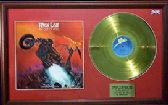 MEAT LOAF - 24 Carat Gold Disc & Cover - BAT OUT OF HELL